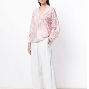 Vince Stripe Cotton  Blouse